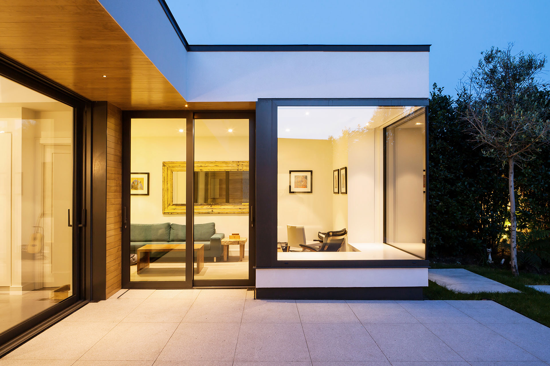 courtyard complete refurbishment and extension of a standard two
