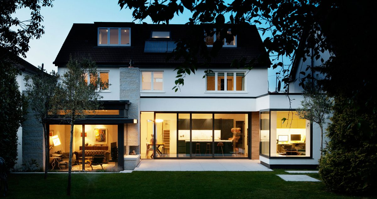 Courtyard - Complete refurbishment and extension of a standard two-storey detached house in South Dublin