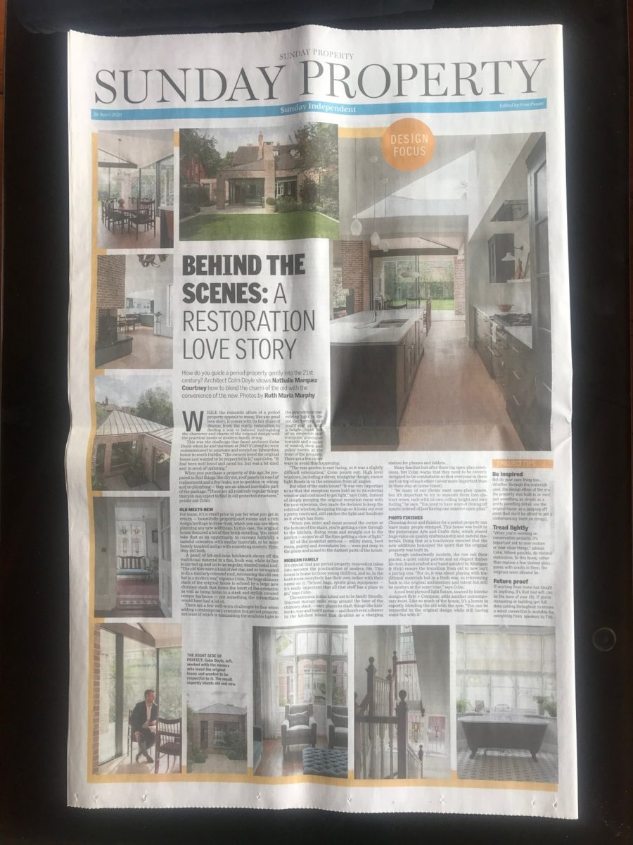 Sunday Independent Feature  - Restoring a Protected Structure