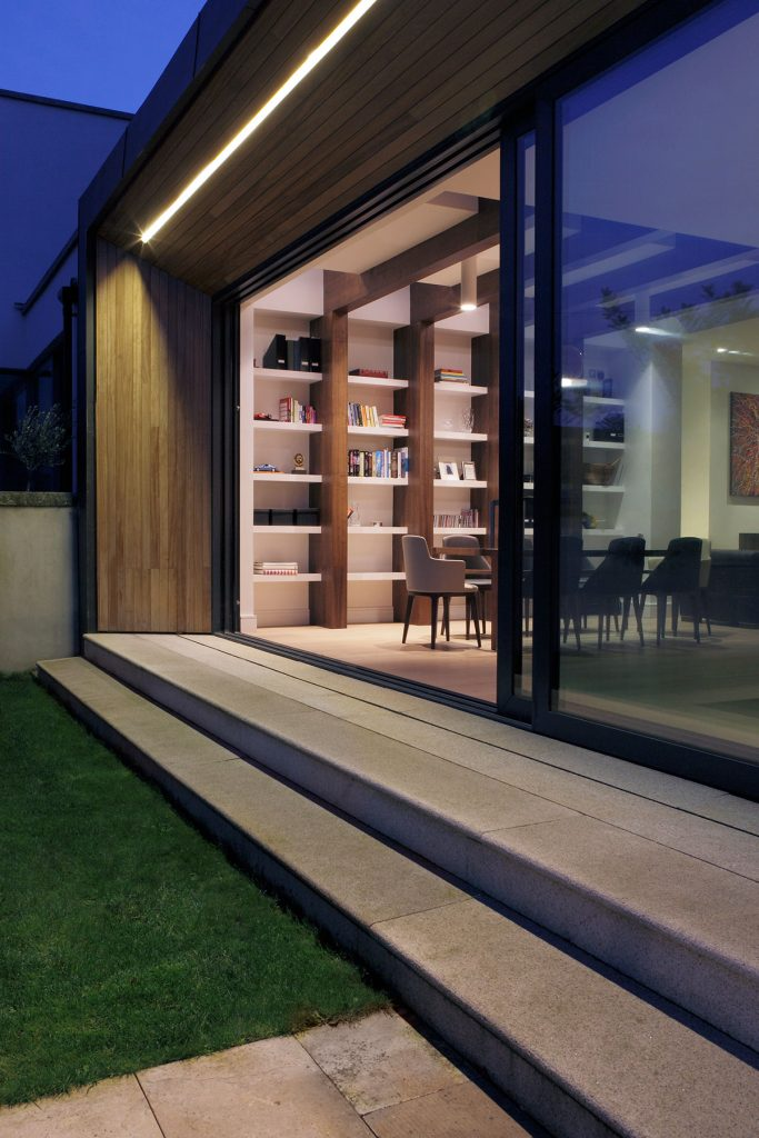 modern extension with high energy efficiency