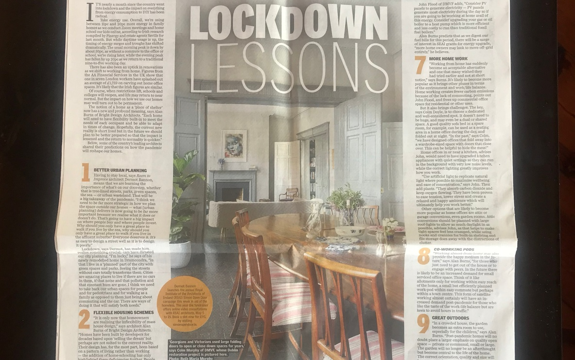 DMVF Sunday Independent Feature - Lockdown Lessons